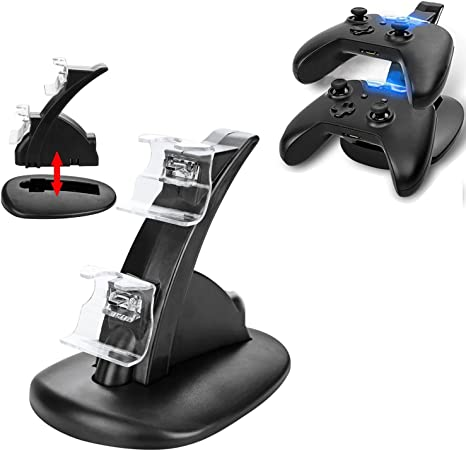Xbox One Charger Dual USB Wireless Controller Charger Dual Dock ...
