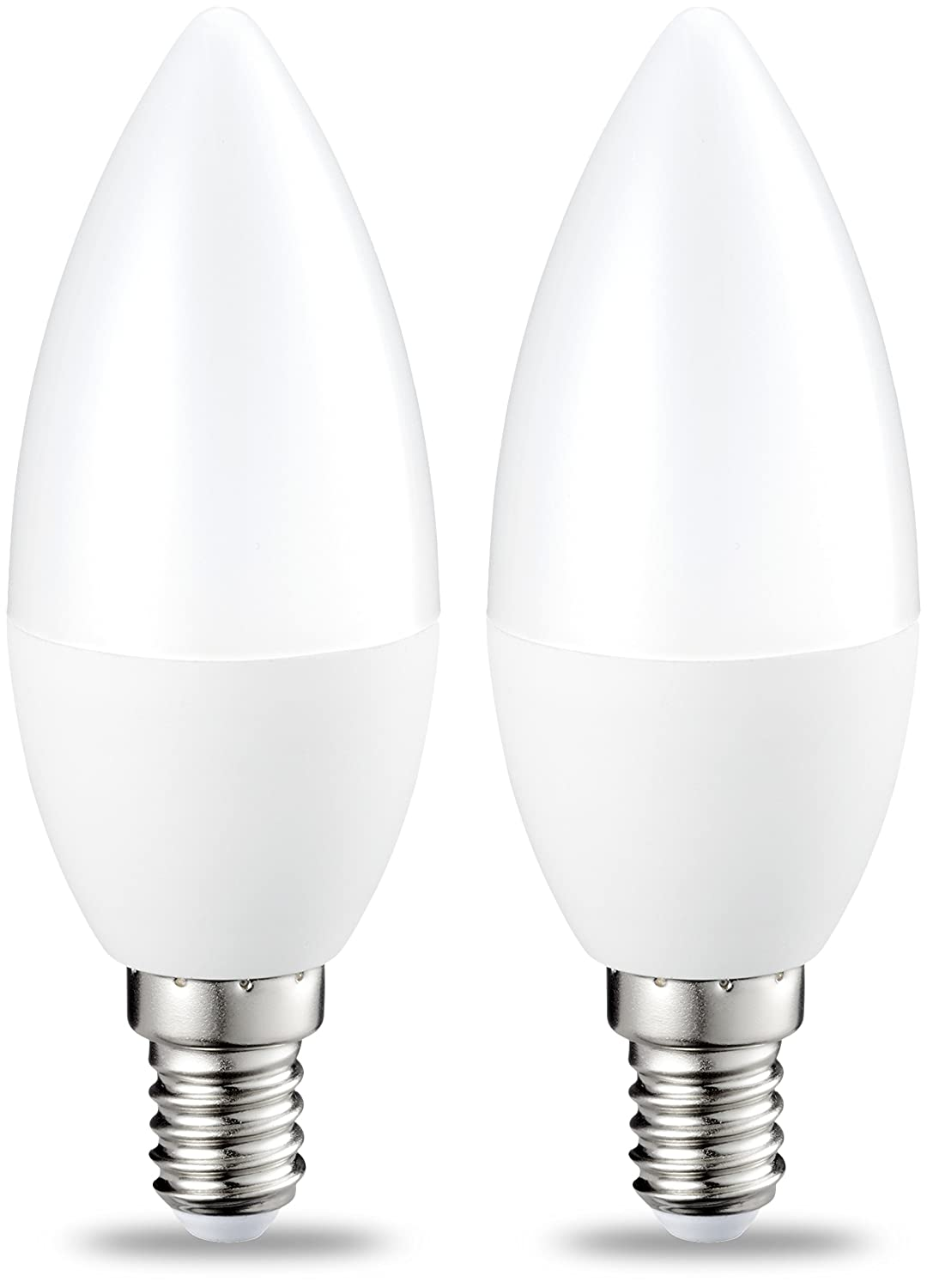 Basics - Bombilla LED E14, 5,5 W equivalente a 40 W, 470 lú menes, no regulable - 2 unidades 470 lúmenes 40W B35 E14 WW FR ND 2PK