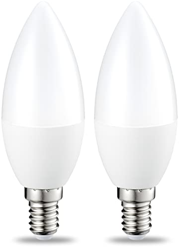 AmazonBasics Bombilla LED E14, 5.5W (equivalente a 40W), Blanco Cálido-
