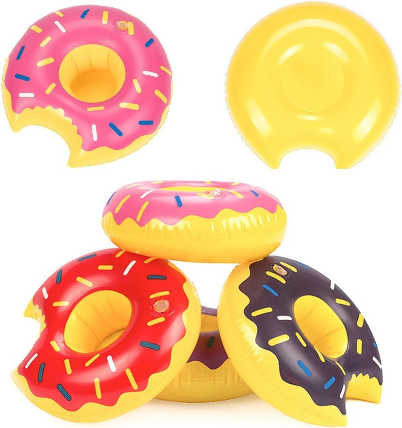 takestop Puerta Vaso Donut Hinchable Flotador de Playa Piscina ...