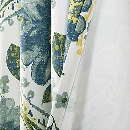 Lush Decor Floral Paisley Window Curtain Panel Pair