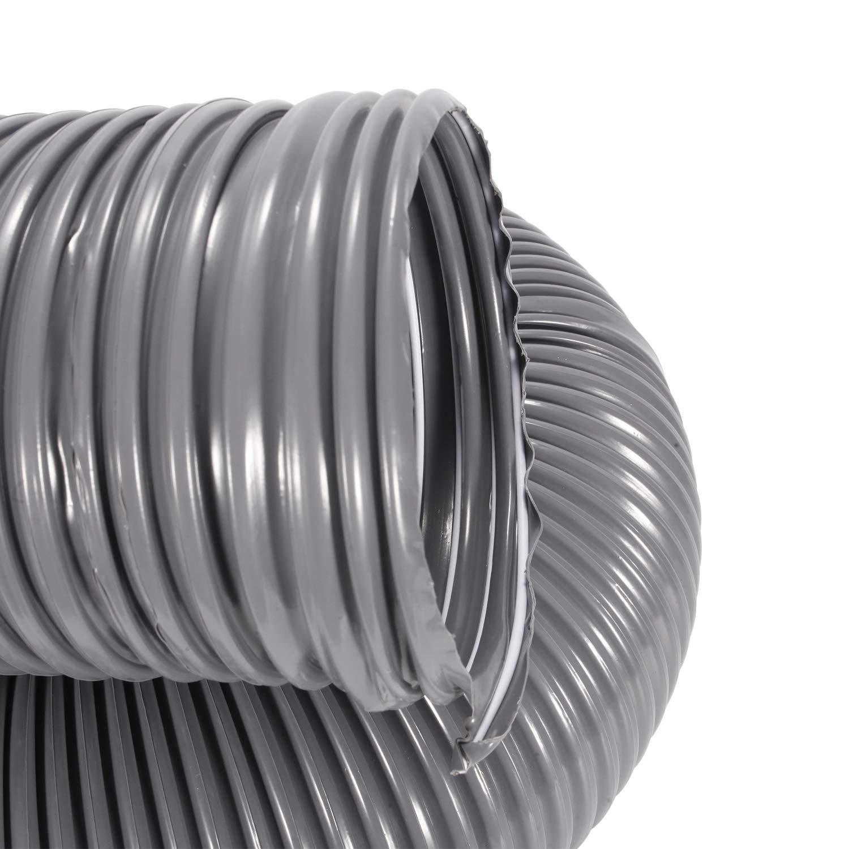 Completamente Herm/ético Hon/&Guan 100mm Conducto de Aire Flexible para Secadora Universal Manguera de Ventilaci/ón de PVC de Alta Presi/ón para Entrega de Polvo L/íquido y Gas /ø100mm*2m, Gris
