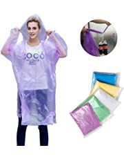 TopWill Disposable Rain Poncho, Waterproof Emergency Poncho with Hood - Perfect for Outdoor Concert Theme Park Camping Hiking, etc