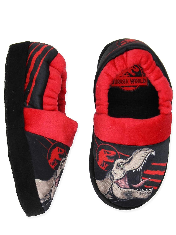 Jurassic World Dinosaurs Boys Toddler Plush Aline Slippers