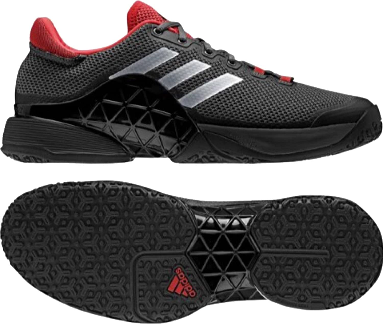 アディダス adidas テニスシューズ 27.5cm バリケード 2017 OC オムニクレー 国内正規品 BA9098 ブラック B07CWCNHTB
