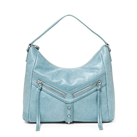 a3797b73b62 Amazon.com  botkier trigger soft blue leather trigger hobo  Clothing