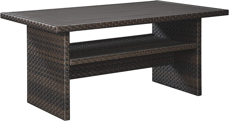Signature Design by Ashley P455-625 Easy Isle Multi-Use Table, Dark Brown/Beige