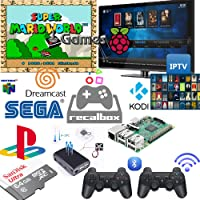 Kit Multijogos Raspberry PI 3 32gb + Fonte On/off + 2 Controles