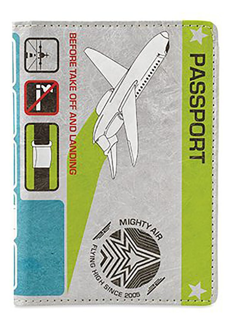 Dynomighty Men's Mighty Passport Cover In Flight, Multi, One Size by Dynomighty