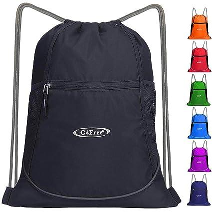 a4e11b5fbcba G4Free Drawstring Backpack Sports Gym Bag Large String Backpack Cinch Sack  Waterproof Swim Bag Women Men Indoor Outdoor