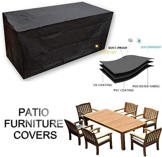 Funda Protectora para Muebles de Jardín, Funda Protectora Muebles Jardin Impermeable Color Negro Tela Oxford 420d Fundas para Muebles de Jardin, con Bolsa de Almacenamiento (Size : 125x125x74cm): Amazon.es: Hogar