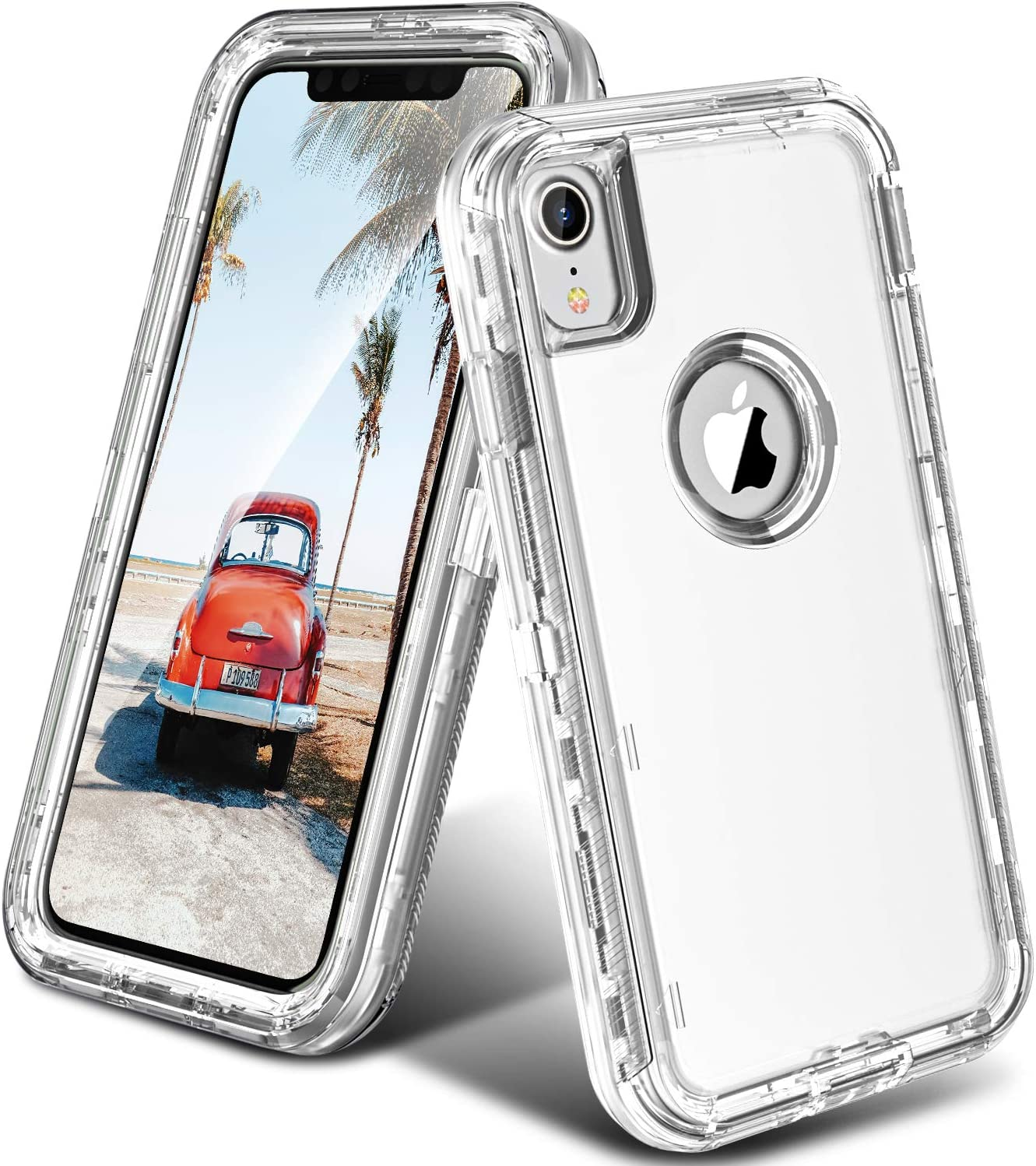 Amazon Com Oribox Case Compatible With Iphone Xr Case Heavy Duty Shockproof Anti Fall Clear Case