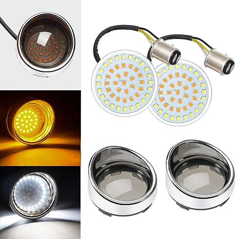 4 Pcs Bullet Turn Signal Light Lens Cover Running Light Lens for Sportster Touring Dyna Softail Street Glide Road King