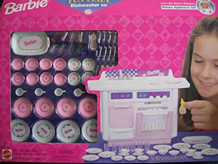 Amazon.com: Barbie Diversión fixin Lavavajillas Set Deluxe ...