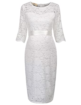 92c76ec2c516 GRACE KARIN Maternity Womens Half Sleeve Hips-Wrapped Lace Party ...