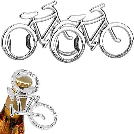 Wenlai 2 Piezas Llaveros Abrebotellas Metal para Bicicleta con Forma de Cerveza Abrebotellas Bicicleta Portátil Creative Botella Cerveza Abridor ...
