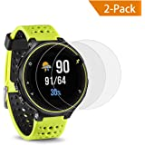 TedGem Screen Protector Tempered Glass Film for Garmin Forerunner 235 230 225 620 630,HD Clear Film for Garmin Forerunner GPS Running Watch, 9H Hardness,Shatterproof, Delicate Touch,2-Pack