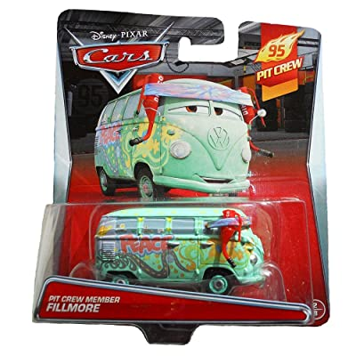 Disney Pixar World of Cars - Pit Crew Member Fillmore Vehicle: Toys & Games
