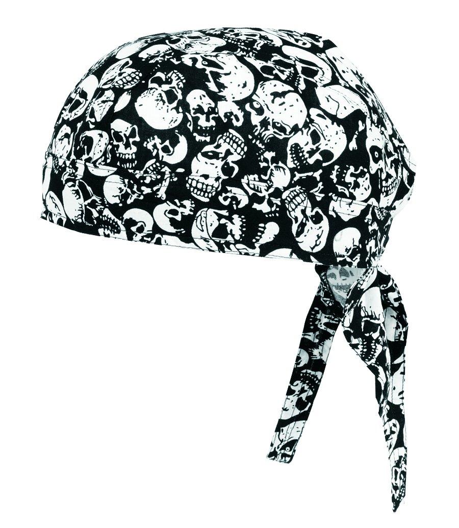 Vega Head Wrap with Skulls Graphics (Black, One Size)