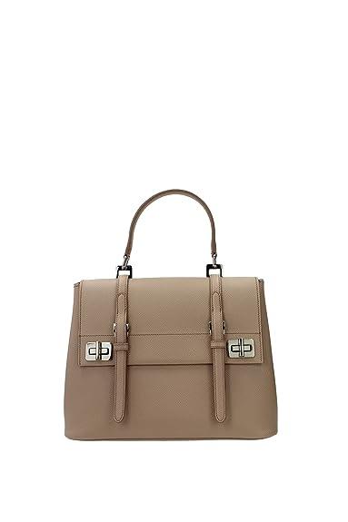 b92305fee84de Handtasche Prada Damen Leder Rosa Akt und Silber BN2821CAMMEOSAFFIANO Rosa  16x22x29 cmEU