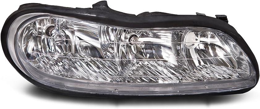 Headlights Headlamps Driver and Passenger Replacements for Chevrolet Malibu Malibu Classic Oldsmobile Cutlass 22618782 22618781