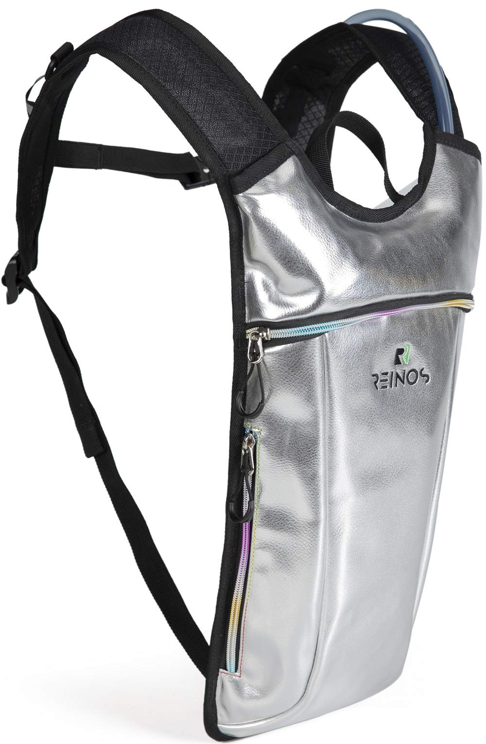 REINOS Hydration Backpack - Light Water Pack - 2L Water Bladder Included for Running, Hiking, Biking, Festivals, Raves (Platinum) by REINOS