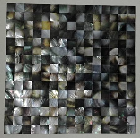 11square feet black lip shell mosaic tile mother of pearl natural