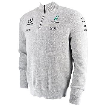Mercedes AMG F1 Réplica Team Puma Half Zip Sudadera Gris XXL: Amazon.es: Coche y moto