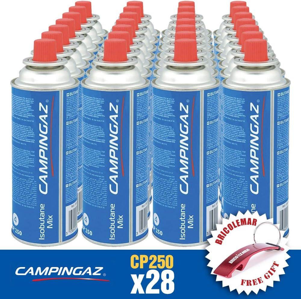 Bricolemar Cartucho de Gas CP250 Campingaz (Caja de 28 Unidades) + Llavero Destapador Abridor Regalo!