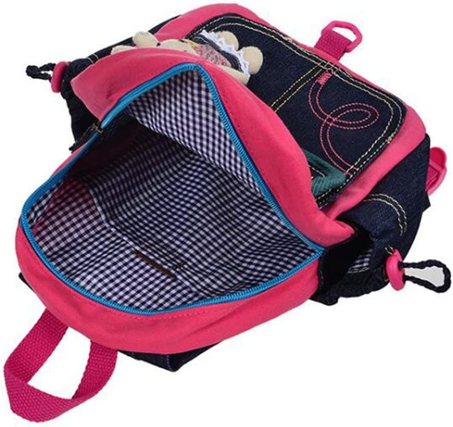 Blue Grid Bear Kids Toddler Safety Harness Backpacks Anti Lost Cartoon Bear Leash Strap Shoulder Bag for 1-3 Years Old