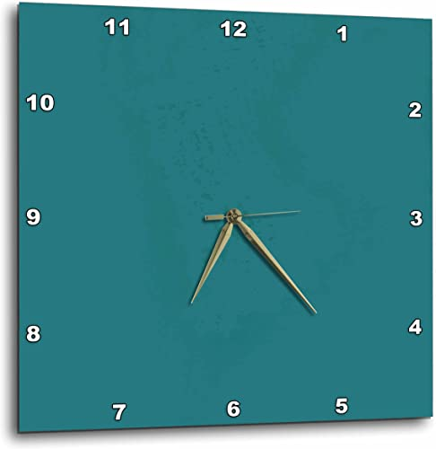 3dRose Image of Solid Teal Water Color – Wall Clock, 15 by 15-Inch DPP_223508_3