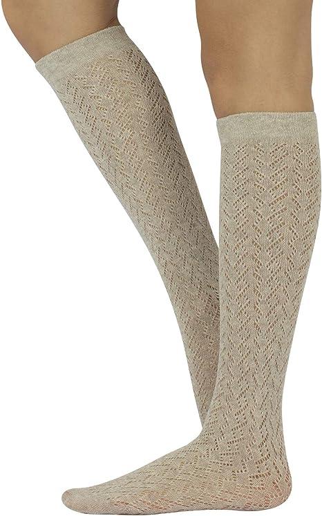 Girls fancy Pelerine school knee high socks cotton rich white with wide lace