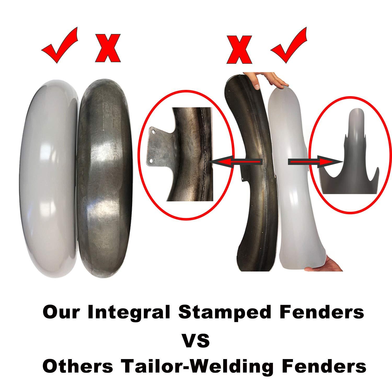 TTX LIGHTING Pre-Drill Unpainted Steel 21 Wheel Fender 120//70-21 130//70-21 Tire Hugger Front Fender Mudguard for Harley Touring Baggers Electra Road Street Glide FLHX 2014 2015 2016 2017 2018 2019