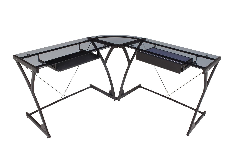 Amazon Com Regency Soho Computer Corner Desk Mocha Walnut