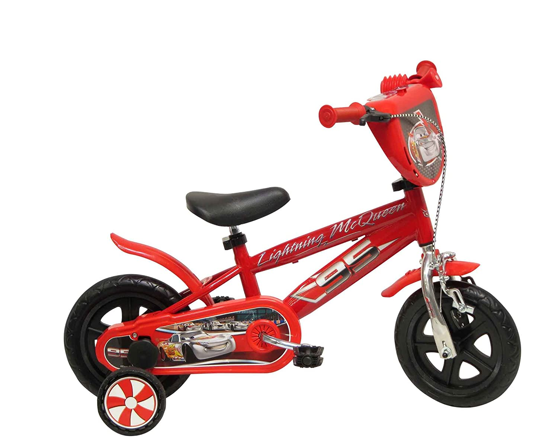 13163 Disney - Cars cromo bicicletas con freno, de 10 pulgadas