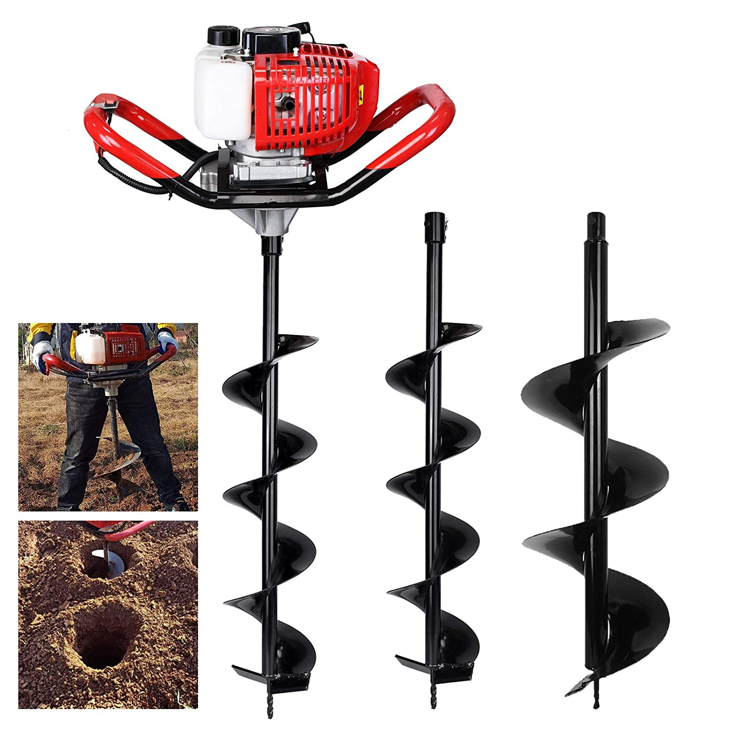 """APLMAN 2-Inch Diameter Earth Auger Drill Bit,7//8 Shaft /& 31/"""" Length Augers for Gasoline Earth and Ice Auger Power Heads"""