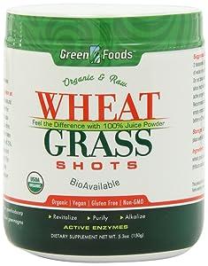 Green Foods Wheat Grass Shot 30SRV ORG, 5.3 Ounce