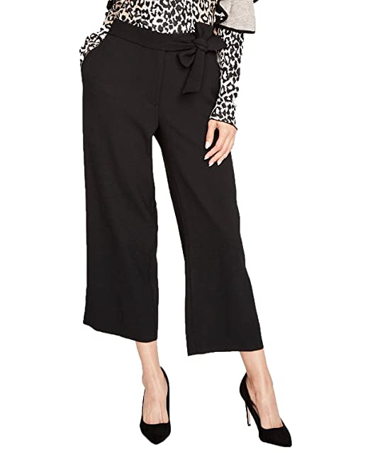 b01e900d8097 RACHEL Rachel Roy Sash-Tie Cropped Wide-Leg Pants (Black, 8) at ...
