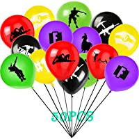 """50 Pcs Game Balloons for Party, 12"""" Latex Double-side Printed Balloons Birthday Game Party Supplies for Kids"""