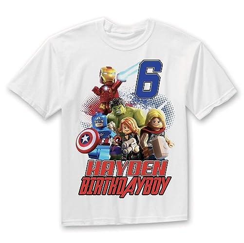 LEGO Avengers Birthday Shirt Custom Toddler Gift Lego Legoland