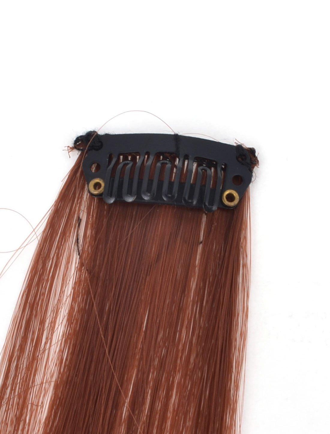 Amazon.com: La fibra sintética eDealMax Recto Mujer de bricolaje peluca de Pelo Largo, marrón, 21.2 pulgadas, 0,01 la Libra: Health & Personal Care