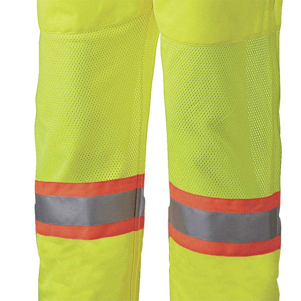 Pack of 2 One Size Fits All V1040870U-O//S Waterproof Polyester Leg Gaiters High Visibility Unisex Pioneer Lightweight Reflective Tape Yellow//Green