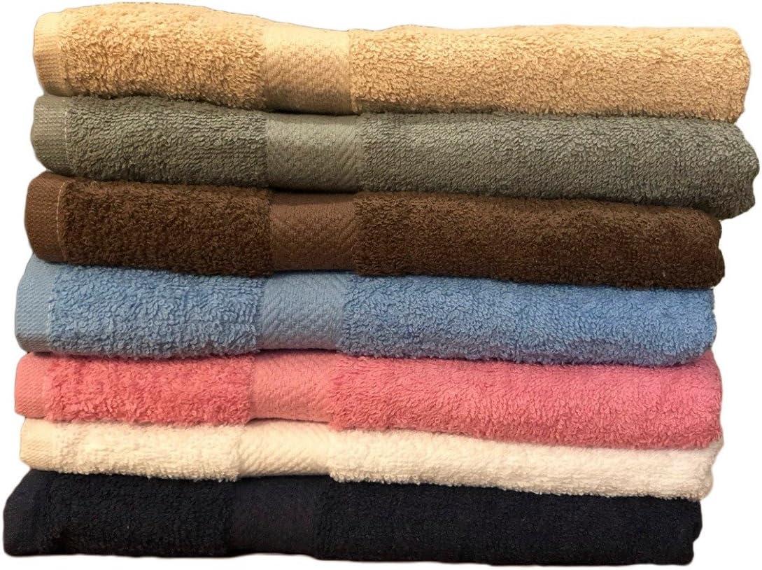 "ArtMuseKitsMikash ecotowel ECO Towels 6-Pack Bath Towels - Extra-Absorbent - 100% Cotton - 27"" x 54"""