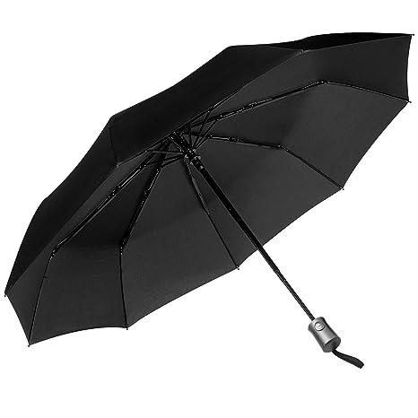 JEOutdoors Paraguas Plegable Automático Portátil 10 costillas defender del viento automáticamente cerrar y abrir con recubrimiento