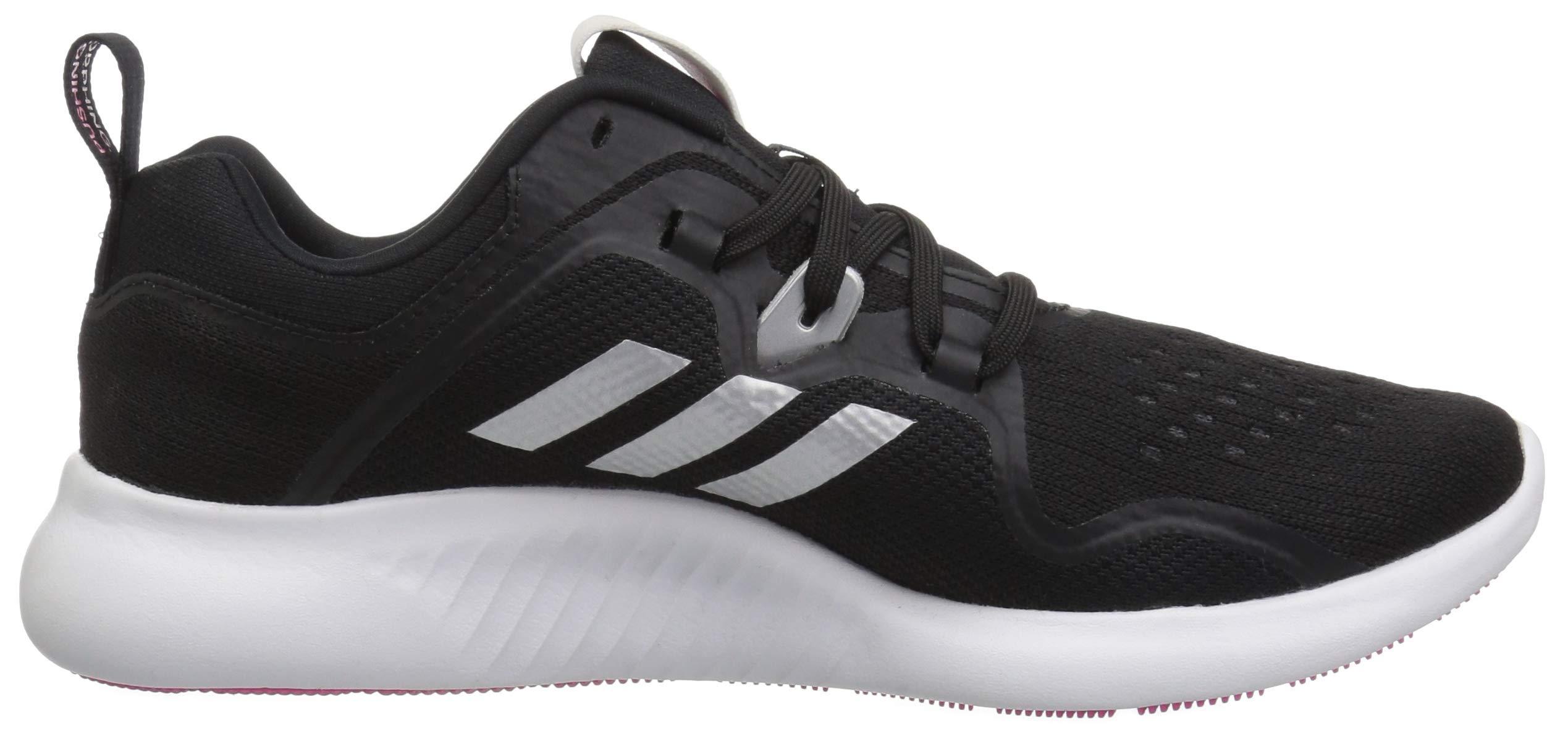 adidas Women's EdgeBounce Running Shoe, Black/Silver Metallic/Shock Pink, 5 M US by adidas (Image #6)