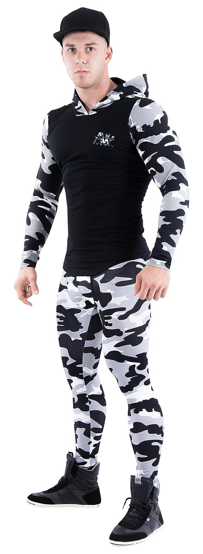 Nebbia Aesthetic Warrior Camo Felpa con Cappuccio 116Sport Abbigliamento Taglia XL Colore Grigio/Nero