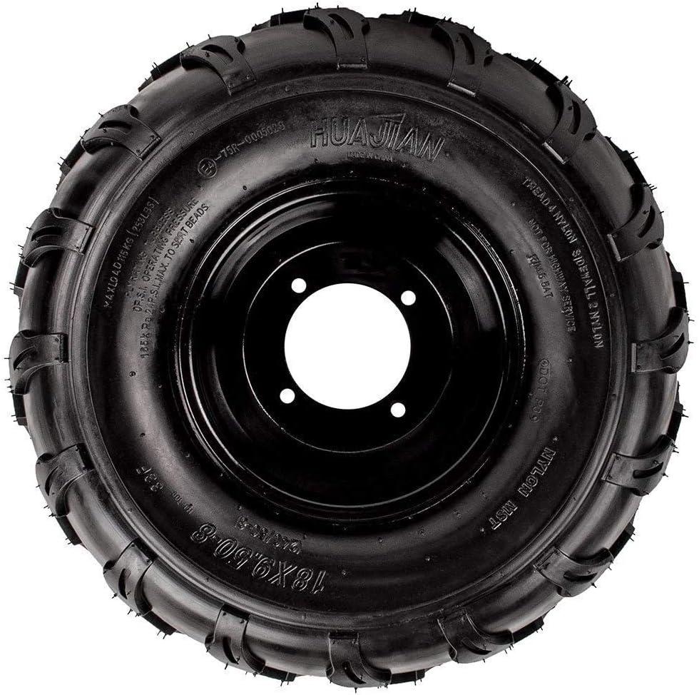 18x9.5-8 Chinese Tire Rim Wheel Assembly 10mm 4 Bolt Tao ATV Quad Go-Kart by VMC CHINESE PARTSTao Left