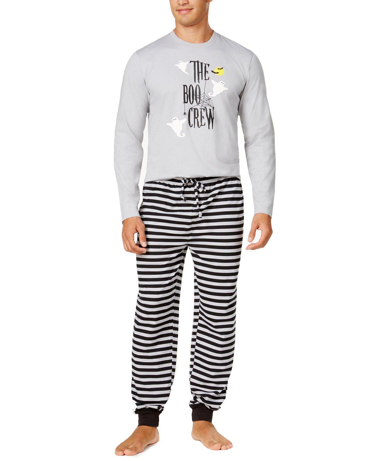 Family Pajamas Men's Boo Crew Knit Pajama Set (Medium, Boo Crew)
