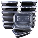 Besnail [15 Pack]1 Compartment Meal Prep Container Set. Food Storage Containers with Lids. Stackable Microwavable Freezer Dishwasher Safe Bento Lunch Box Set(1200ML)