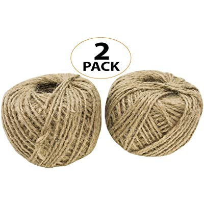 Bonka Bird Toys 2057 Pk2 Natural Jute Twine String 390 ft Rope Bird Parrot Toy Craft Part Gift Burlap Ribbon Wrapping Paper Rustic tag Decor Gardening eco Friendly tie Decoration: Home Improvement
